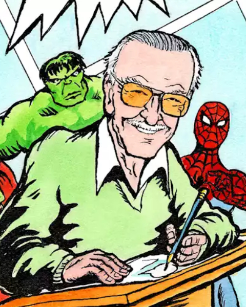 Image That Shows The Stan Lee, the creator-writer of Marvel Comics' heroes and villains