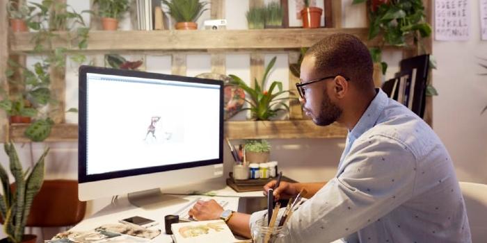 An image representing a professional animator on job
